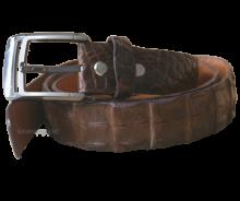 Thắt lưng da cá sấu màu nâu