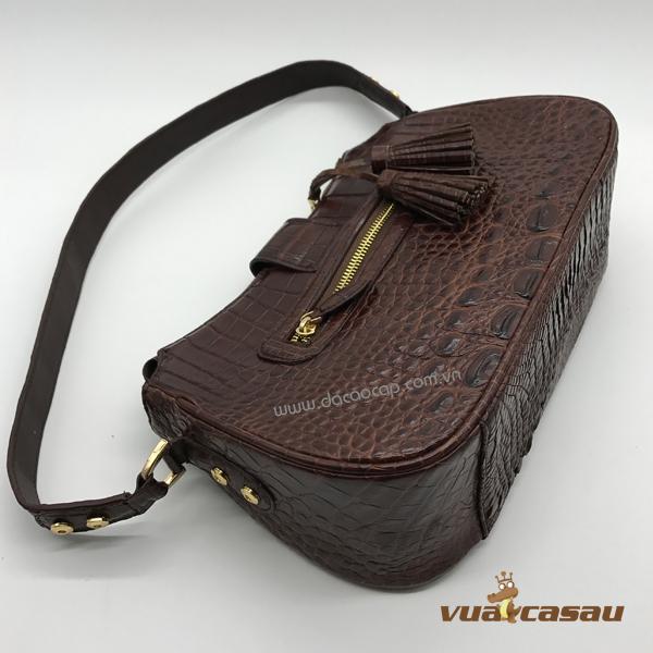 Túi xách da cá sấu cao cấp cyvy - 6