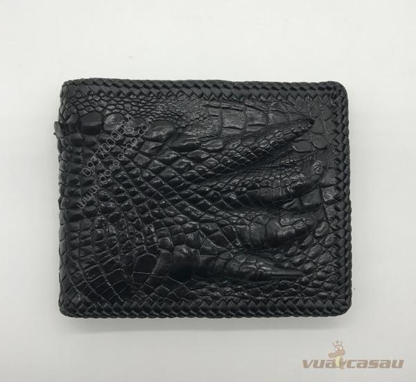 Ví bàn tay cá sấu thật đan viền - 2
