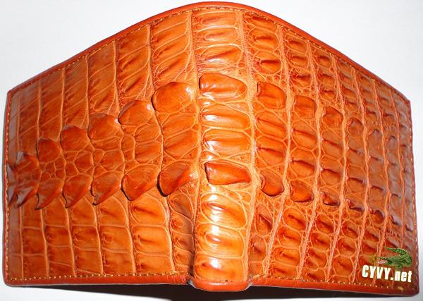 Ví da cá sấu gai lưng màu vàng - 1