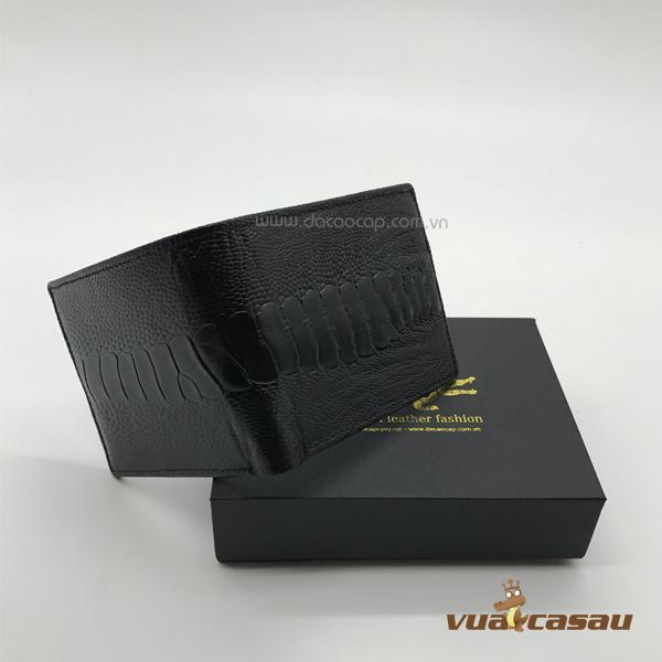 vi,bop da chân đà điểu màu đen 100% da đà điểu4