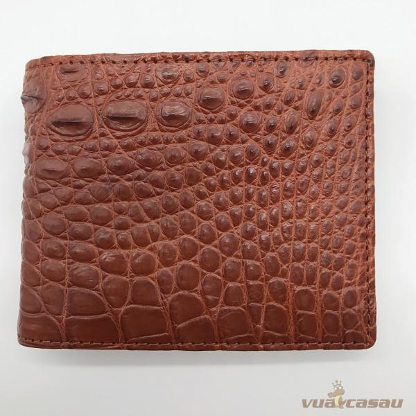 Ví da cá sấu bông bi màu nâu đỏ - 6