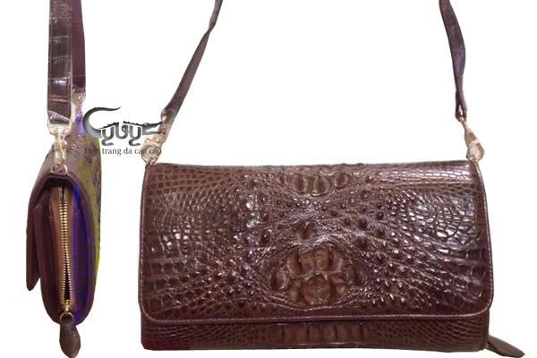 Ví nữ da cá sấu có quai đeo - 5