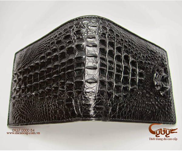 Ví da cá sấu nguyên con màu đen - 2